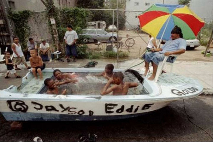 25 Funny DIY Pools - I always thought boats were for use ON water.