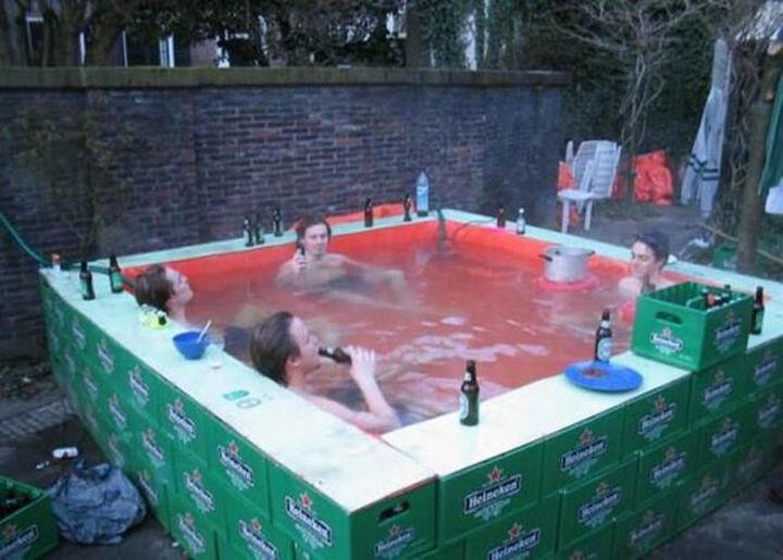 25 Funny DIY Pools - Cold beer, good friends, DIY pool.