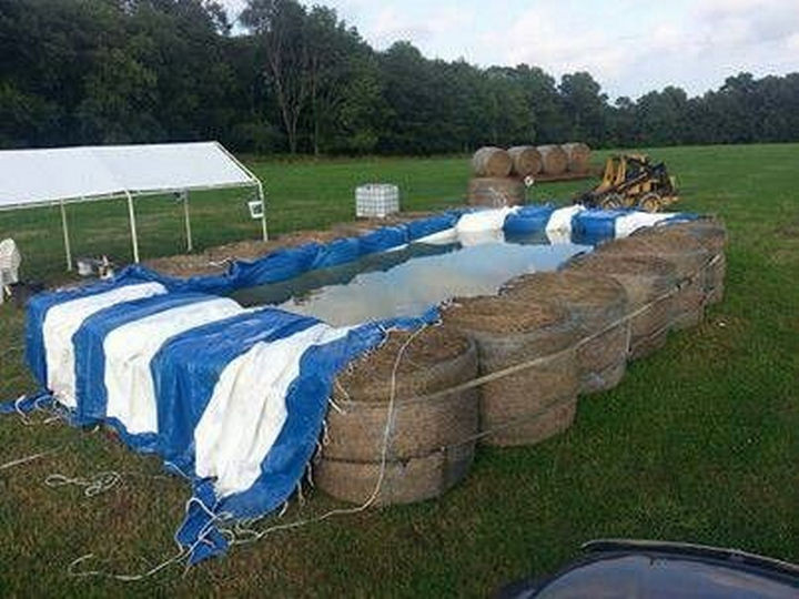 25 Funny DIY Pools - The horses called, they want their hay back.