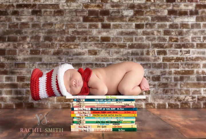 37 Newborns Wearing Geek Baby Clothes - The baby in the hat.