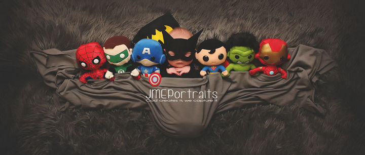37 Newborns Wearing Geek Baby Clothes - Baby Batman.