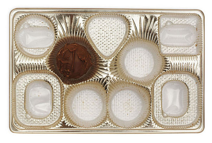 47 Amazing Life Hacks - Chocolate Box Insert - When you are done eating the delicious chocolates, use the insert and box to store a variety of small items.