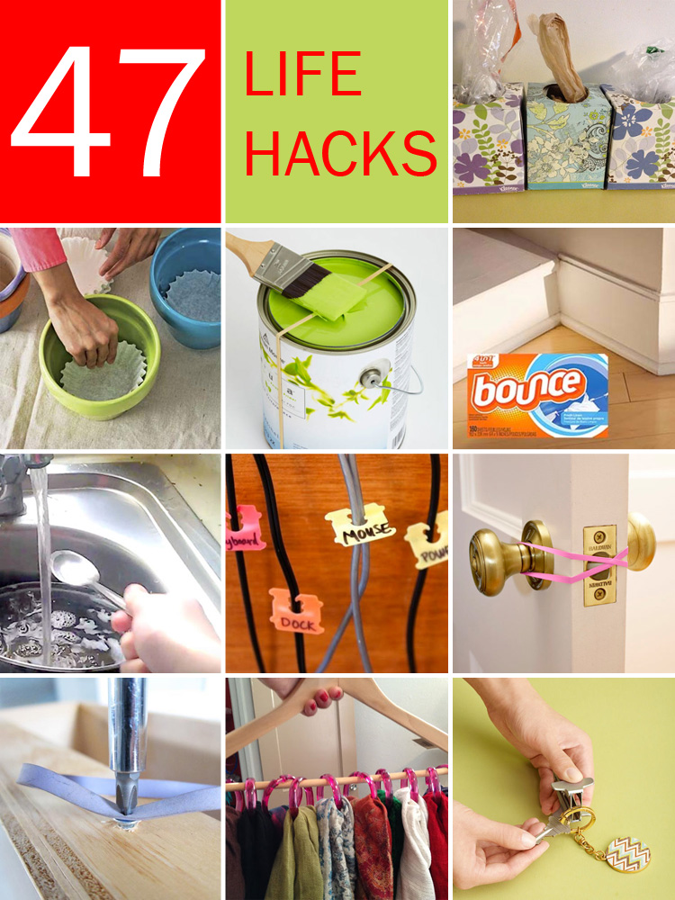 47 amazing life hacks using only common household items for Household hacks