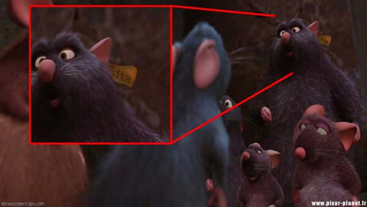 Disney and Pixar 'A113 Easter Egg - Written on an ear tag on one of the rats in Ratatouille.