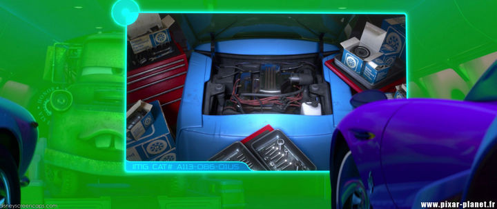 Disney and Pixar 'A113 Easter Egg - On a computer screen in Cars 2.