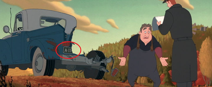 Disney and Pixar 'A113 Easter Egg - License plate number in The Iron Giant.