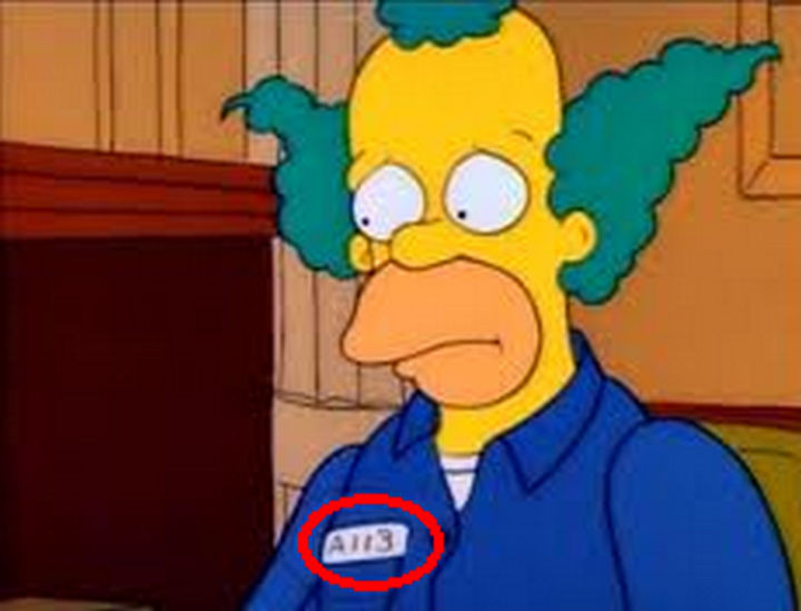Disney and Pixar 'A113 Easter Egg - Appears in some scenes of The Simpsons.