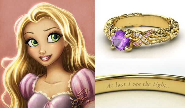 rapunzel 22 disney princess engagement rings - Disney Wedding Rings