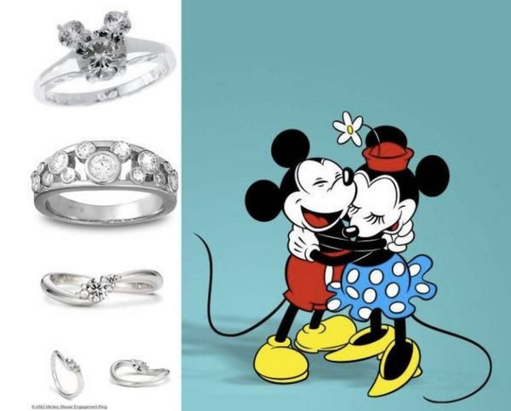 Mickey and Minnie - 22 Disney Princess Engagement Rings.