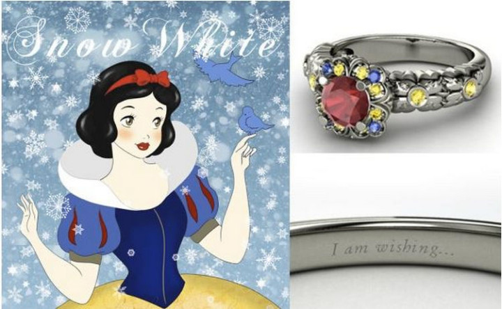 Snow White - 22 Disney Princess Engagement Rings.
