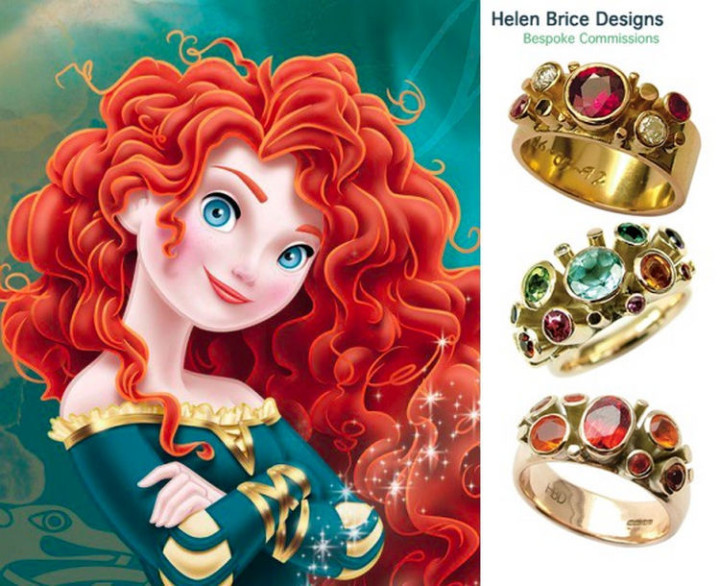 Princess Merida - 22 Disney Princess Engagement Rings.