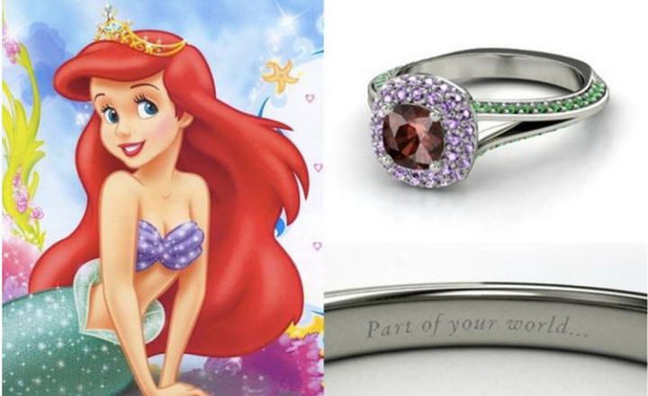 Ariel - 22 Disney Princess Engagement Rings.