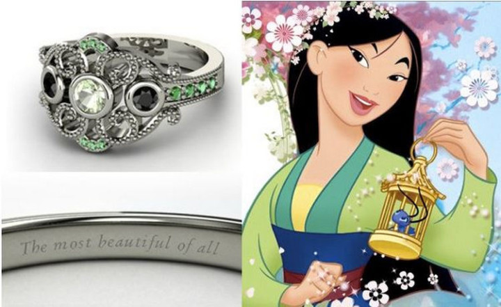 Mulan - 22 Disney Princess Engagement Rings.