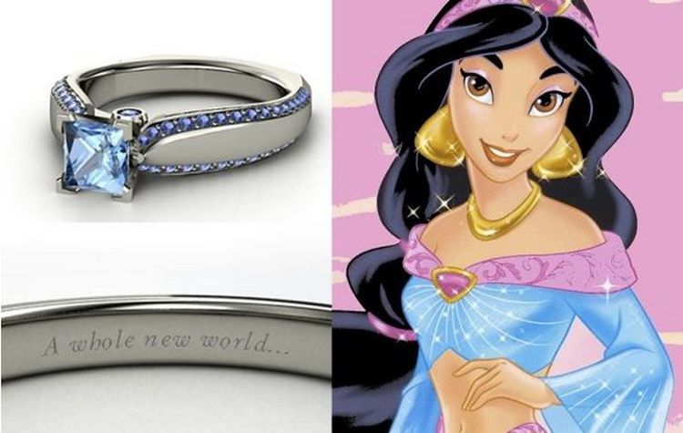 jasmine 22 disney princess engagement rings - Disney Wedding Rings