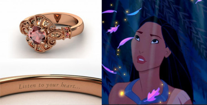 Pocahontas - 22 Disney Princess Engagement Rings.