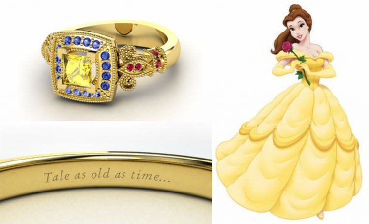 belle 22 disney princess engagement rings - Disney Wedding Rings