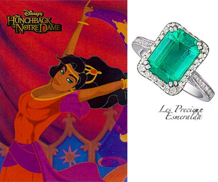 Esmeralda The Gypsy - 22 Disney Princess Engagement Rings.