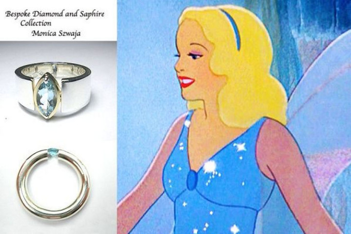 Pinocchio's Blue Fairy - 22 Disney Princess Engagement Rings.
