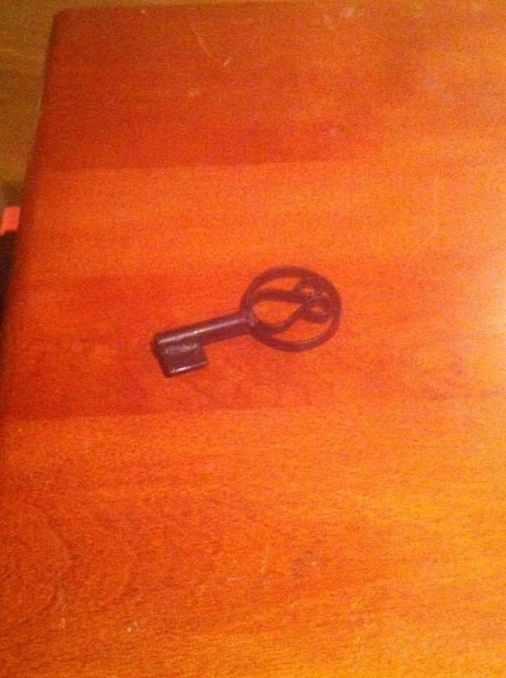 They also found a strange key but had no idea what it was meant to open.
