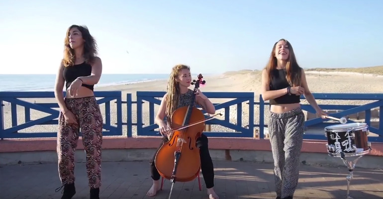 Talented French Trio Only Used a Drum, Cello, and Talent to Create One of the Best Mashups of 2015