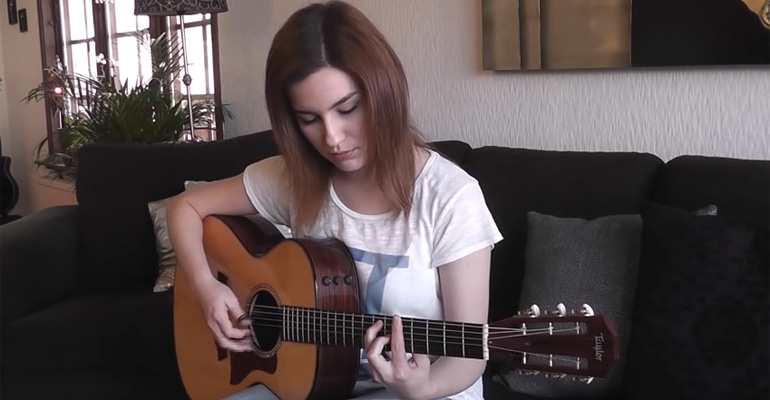 Gabriella Quevedo Beautifully Playing 'Hotel California' Cover.