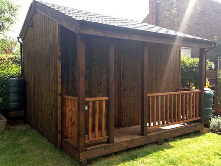 This looks like the ultimate shed but just wait till you see the inside!