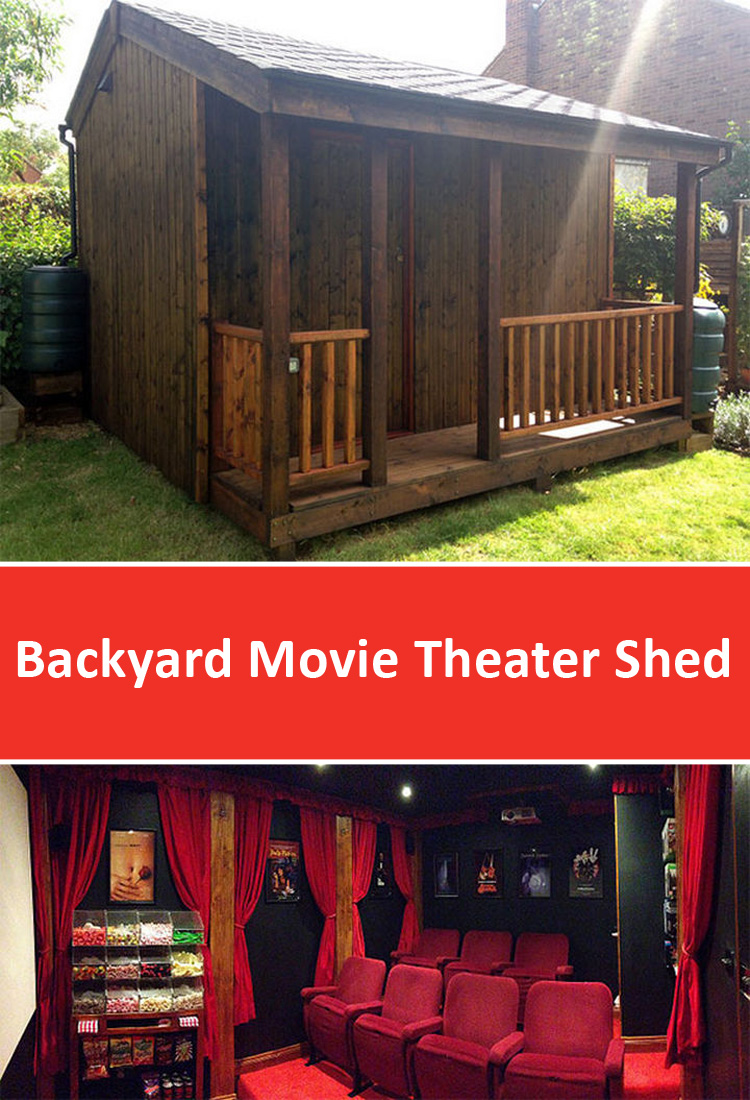 Backyard Movie Theater Shed Designed By Torii Cinema Co