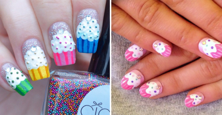 13 Cupcake Nails That Look Deliciously Yummy - 13 Cupcake Nails That Look Deliciously Yummy Nail Art Designs