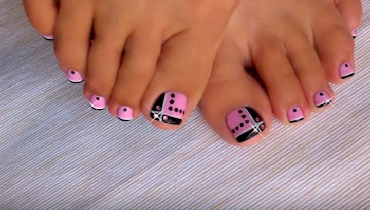 Pink and black toe nail designs images nail art and nail design pink and black toe nail designs image collections nail art and pink toe nail art choice prinsesfo Choice Image