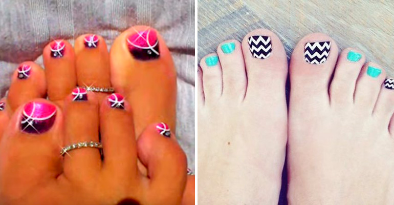 13 Pedicure Designs That Will Perfectly Dress up Your Toes for Any Occasion. #4 Looks Fun.