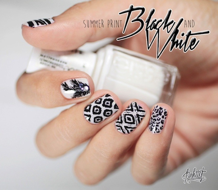 13 Black and White Nail Designs - Beautiful nail art that is worth the effort.