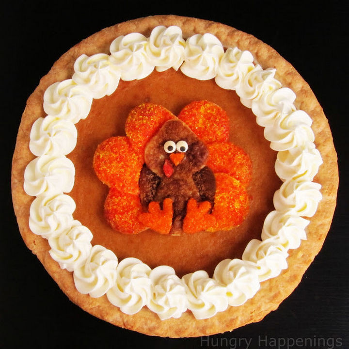Traditional pie crust design.
