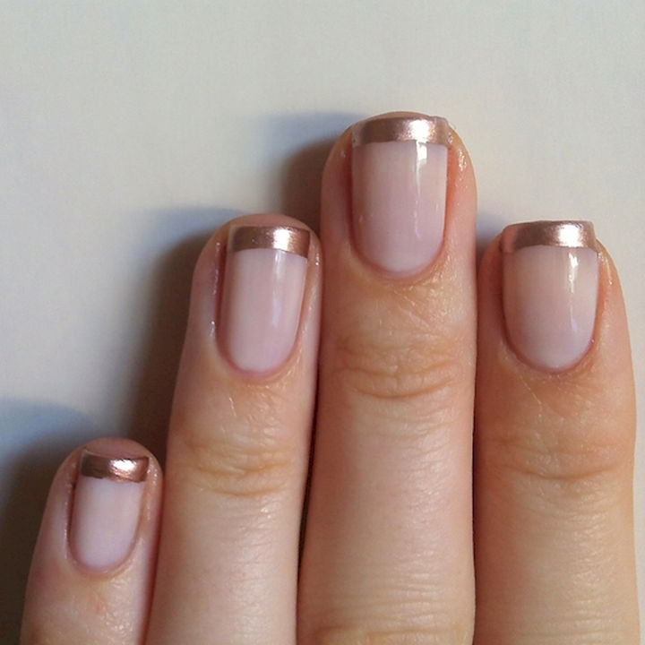 18 gorgeous french manicures with a twist of creativity 18 gorgeous french manicures with a twist awesome gold tip french manicure urmus Choice Image