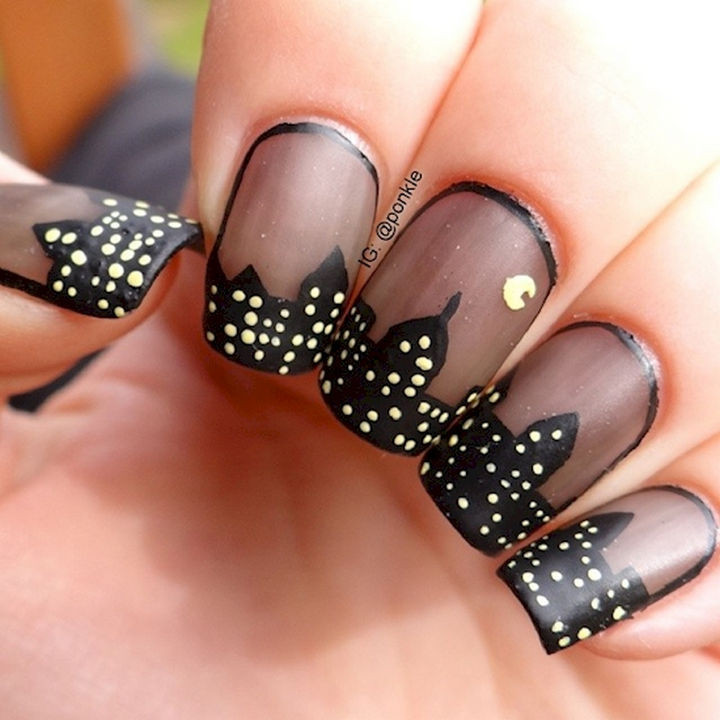 18 Gorgeous French Manicures With a Twist - Take on the night with these nails.