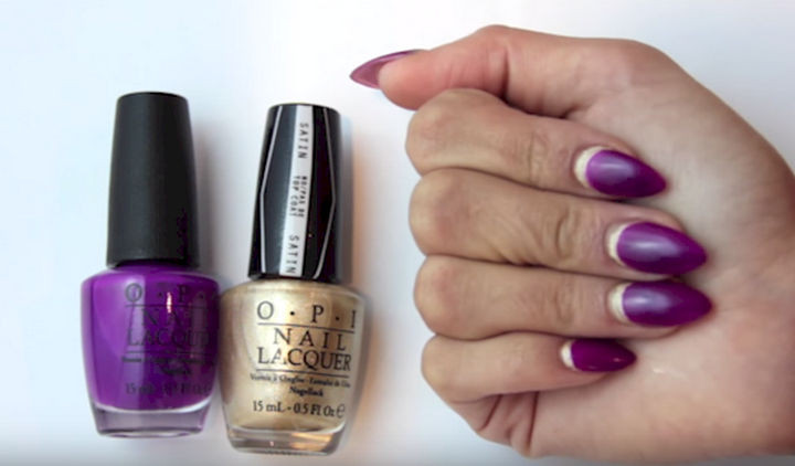 18 Gorgeous French Manicures With a Twist - Here's a fun way to play with a classic look.