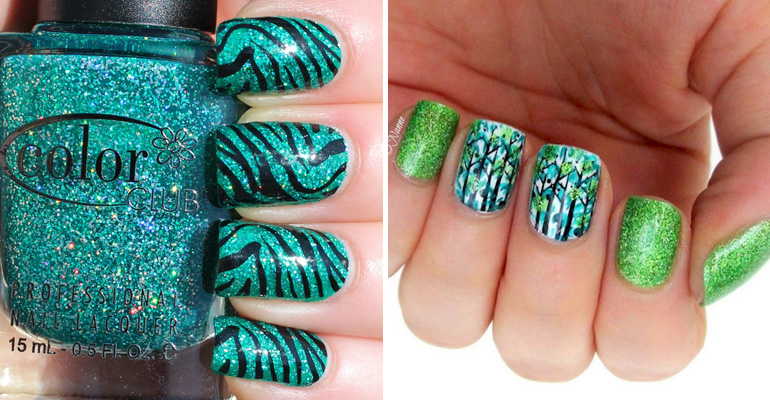 It IS Easy Being Green With These 18 Green Manicures You Are Going to Love
