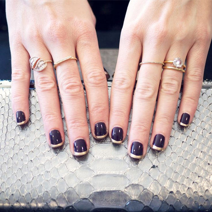 18 Purple Nail Art Designs - Nails that can go from the office to a night on the town.