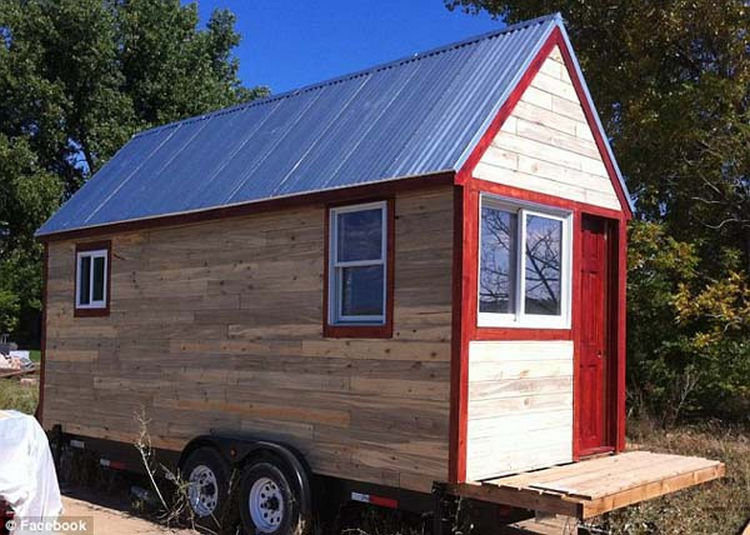 124 square foot small house built by boulder couple living for Small homes built on trailers