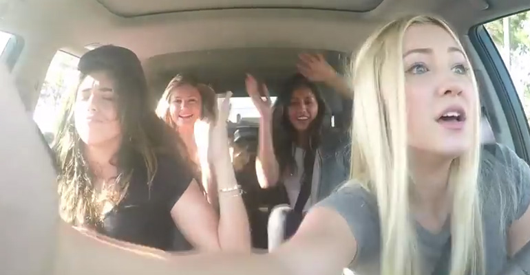 "Carpool Karaoke of Fifth Harmony's ""Worth It"" Goes Wrong."