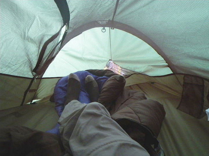 You've probably experienced this view when waking up if you love the great outdoors but this is no ordinary tent.