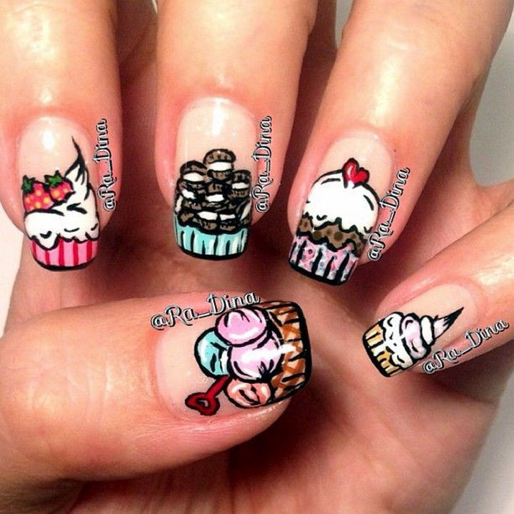 11 Dessert-Inspired Nail Art Designs - These nails look delicious!