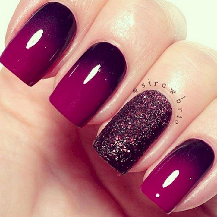 13 Plum Nails - So pretty. Must try!