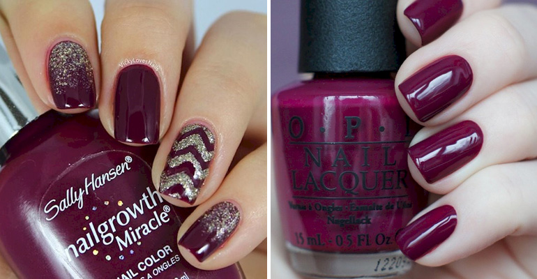13 Plum Manicures That Are Perfect for the Fall Season.