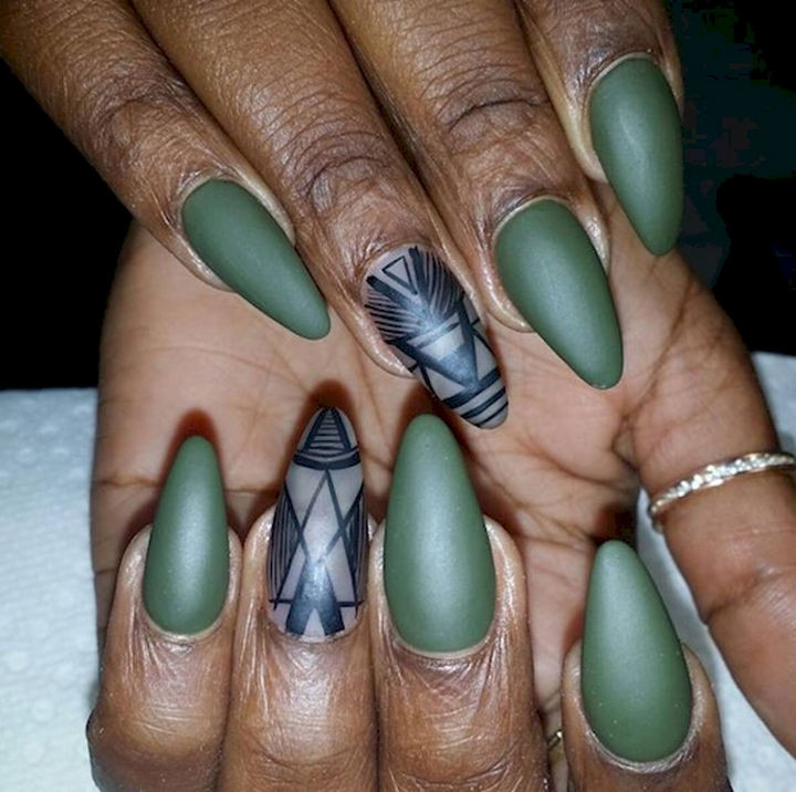 18 Beautiful Green Nails for Fall - I'm starting to feel these Fall colors.