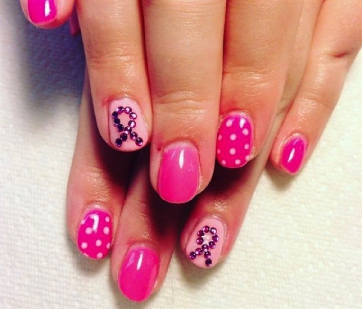 19 Breast Cancer Nails - Support breast cancer awareness all year long.