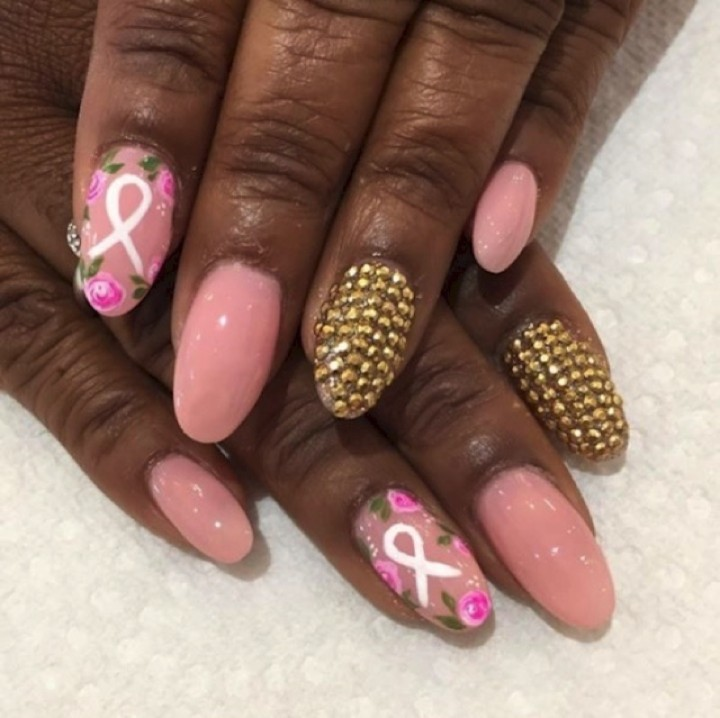 19 Breast Cancer Nails - An awesome shade of pink.