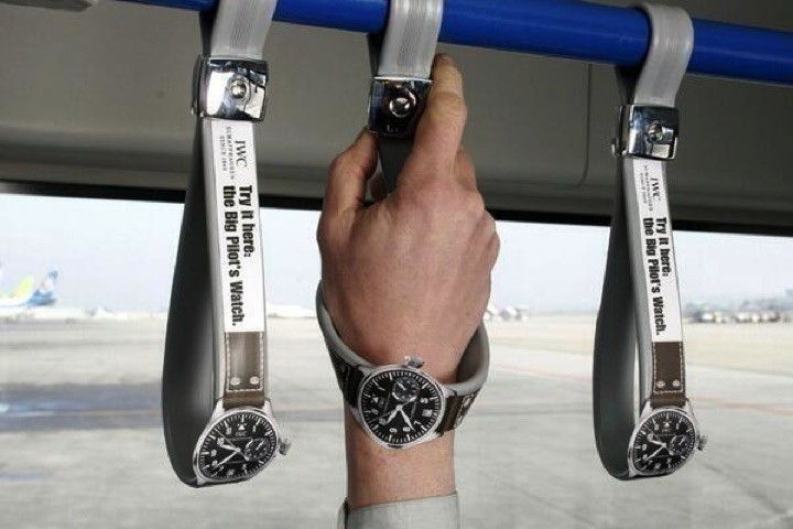 21 Creative Billboard Ads - Great way to try on a watch for free.