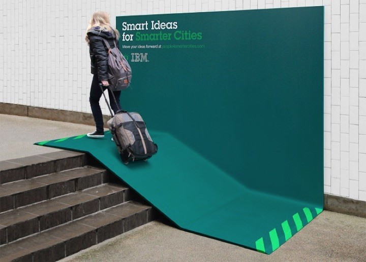 21 Creative Billboard Ads - An ingenious ad that doubles as infrastructure such as a ramp.