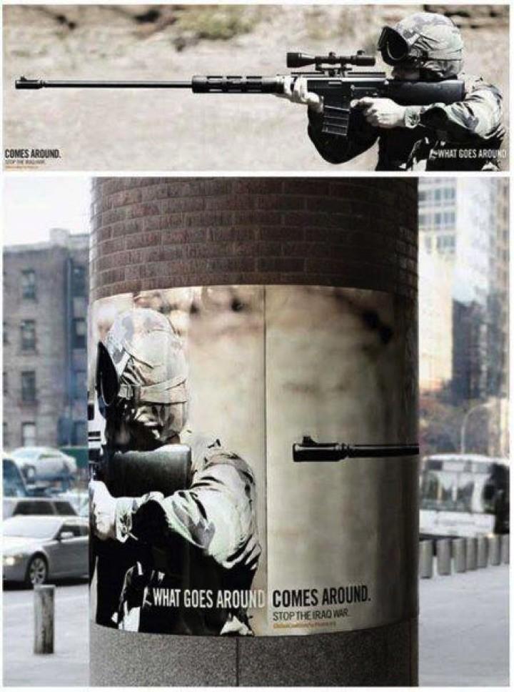 21 Creative Billboard Ads - What goes around comes around.