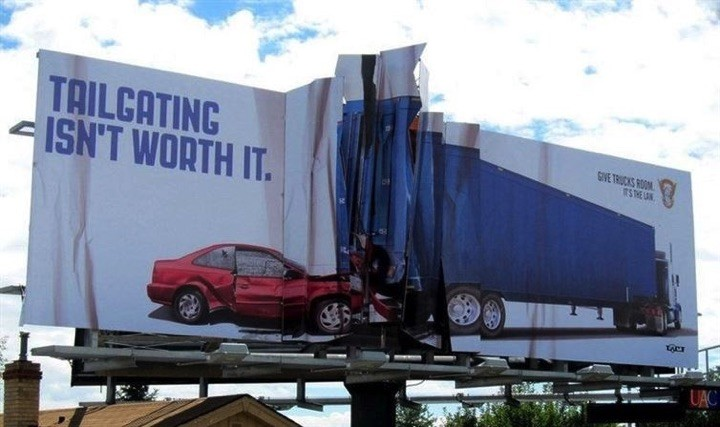 21 Creative Billboard Ads - An important PSA regarding tailgating.